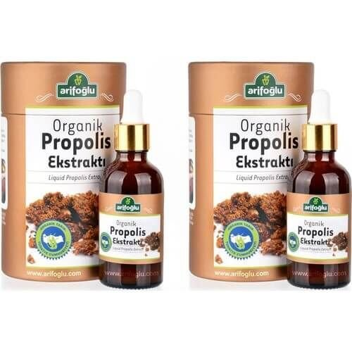 Organik Propolis Ekstraktı (Su Bazlı) 50ml (2 Adet)